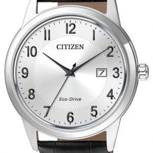 Citizen Dress Aw1231-07a Kello Valkoinen / Nahka