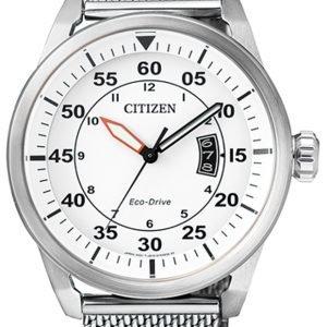Citizen Dress Aw1360-55a Kello Valkoinen / Teräs