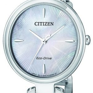 Citizen Dress Em0420-89d Kello Hopea / Teräs