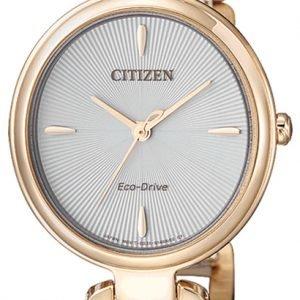 Citizen Dress Em0423-81a Kello Hopea / Kullansävytetty Teräs