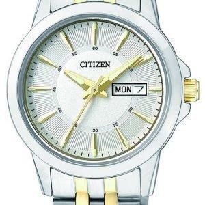 Citizen Dress Eq0608-55a Kello Hopea / Kullansävytetty Teräs