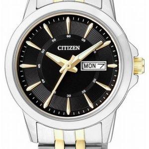 Citizen Dress Eq0608-55e Kello Musta / Kullansävytetty Teräs