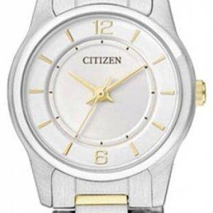 Citizen Dress Er0184-53a Kello Valkoinen / Teräs