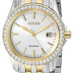Citizen Dress Ew1908-59a Kello Hopea / Kullansävytetty Teräs
