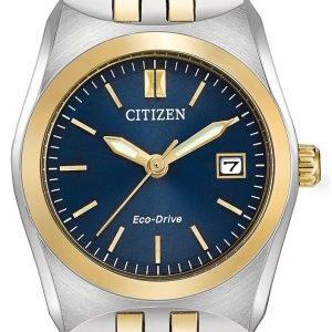 Citizen Dress Ew2294-53l Kello Sininen / Kullansävytetty