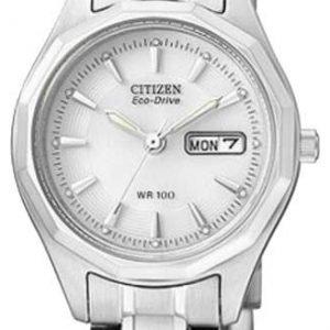 Citizen Dress Ew3140-51a Kello Valkoinen / Teräs