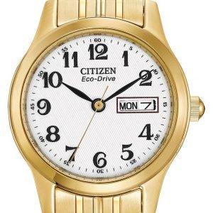 Citizen Dress Ew3152-95a Kello Valkoinen / Kullansävytetty