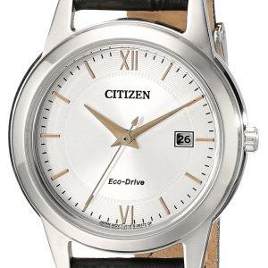 Citizen Dress Fe1086-04a Kello Hopea / Nahka