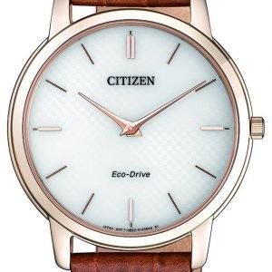Citizen Eco Drive 180 Ar1133-15a Kello Valkoinen / Nahka