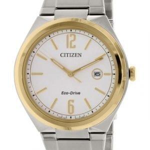 Citizen Eco Drive 180 Aw1374-51a Kello Hopea / Teräs