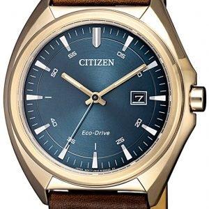 Citizen Eco Drive 180 Aw1573-11l Kello Sininen / Nahka