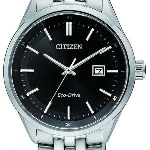 Citizen Eco Drive 180 Bm7251-88e Kello Musta / Teräs