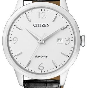Citizen Eco Drive 180 Bm7300-09a Kello Valkoinen / Nahka