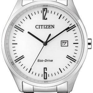 Citizen Eco Drive 180 Bm7350-86a Kello Valkoinen / Teräs