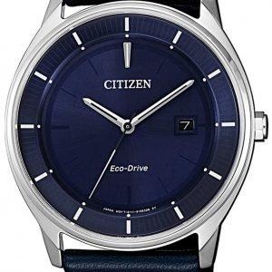 Citizen Eco Drive 180 Bm7400-12l Kello Sininen / Nahka