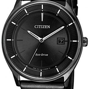 Citizen Eco Drive 180 Bm7405-19e Kello Musta / Nahka