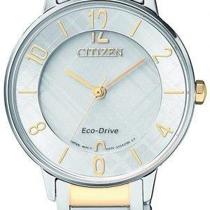 Citizen Elegance Em0524-83a Kello Hopea / Kullansävytetty