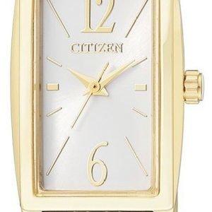 Citizen Elegance Ex0302-51a Kello Valkoinen / Kullansävytetty