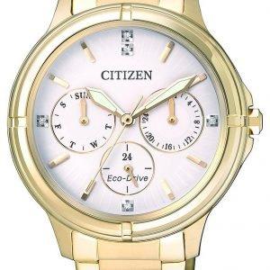 Citizen Elegance Fd2032-55a Kello Valkoinen / Kullansävytetty