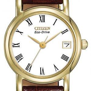 Citizen Ew1272-01b Kello Valkoinen / Nahka