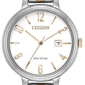 Citizen Ew2446-57a Kello Valkoinen / Punakultasävyinen