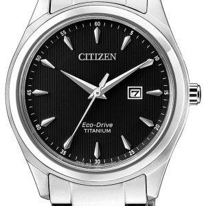 Citizen Ew2470-87e Kello Musta / Titaani