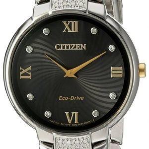 Citizen Ex1464-54e Kello Musta / Kullansävytetty Teräs