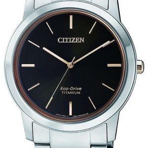 Citizen Fe7024-84e Kello Musta / Titaani
