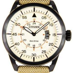 Citizen Leather Aw1365-19p Kello Beige / Nahka