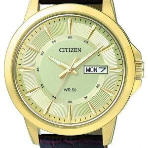 Citizen Leather Bf2013-05p Kello Samppanja / Nahka