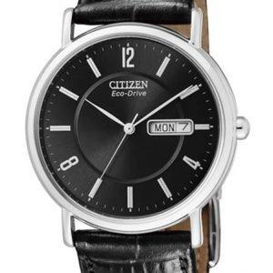 Citizen Leather Bm8241-01ee Kello Musta / Nahka