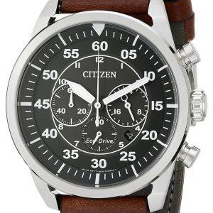 Citizen Leather Ca4210-24e Kello Musta / Nahka