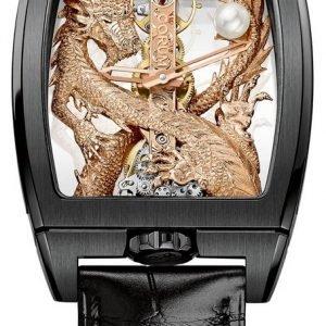 Corum Dragon 113.265.95-0001 Gd55r Kello Luurankokello / Nahka