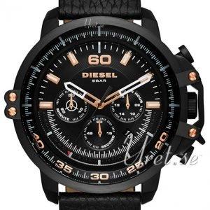Diesel Chronograph Dz4409 Kello Musta / Nahka