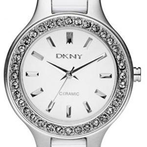 Dkny Ceramic Ny8139 Kello Valkoinen / Keraaminen