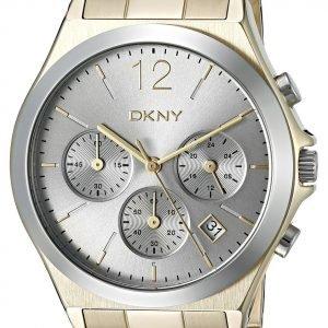 Dkny Chronograph Ny2452 Kello Hopea / Kullansävytetty Teräs
