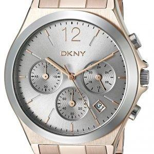 Dkny Chronograph Ny2453 Kello Hopea / Punakultasävyinen