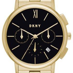 Dkny Chronograph Ny2540 Kello Musta / Kullansävytetty Teräs