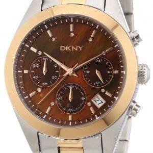 Dkny Chronograph Ny8515 Kello Ruskea / Kullansävytetty Teräs