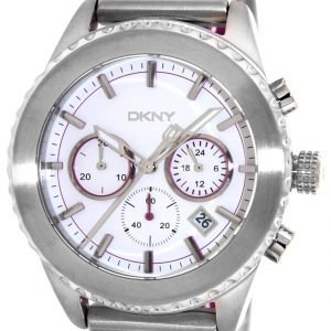 Dkny Chronograph Ny8763 Kello Valkoinen / Kumi