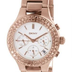 Dkny Crystal Ny2261 Kello Valkoinen / Punakultasävyinen