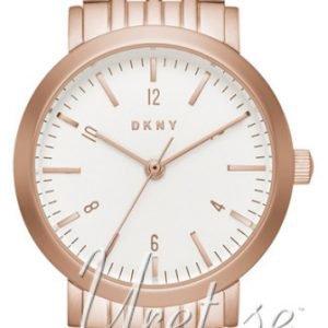 Dkny Crystal Ny2511 Kello Valkoinen / Punakultasävyinen