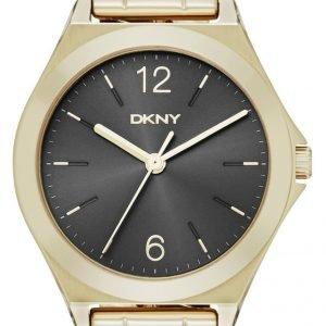 Dkny Dress Ny2425 Kello Musta / Kullansävytetty Teräs