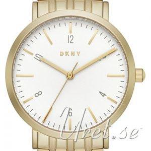 Dkny Dress Ny2503 Kello Valkoinen / Kullansävytetty Teräs