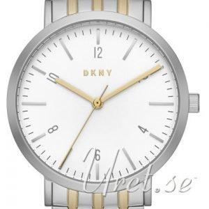 Dkny Dress Ny2505 Kello Valkoinen / Kullansävytetty Teräs