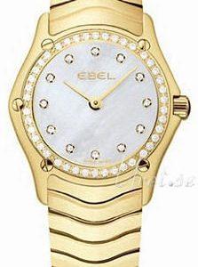 Ebel Classic Mini 1215265 Kello Valkoinen / 18k Keltakultaa