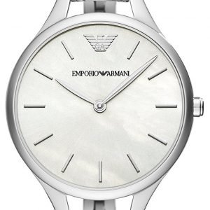 Emporio Armani Ar11054 Kello Valkoinen / Teräs