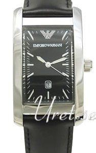 Emporio Armani Classic Ar0121 Kello Musta / Nahka