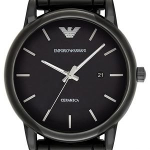 Emporio Armani Dress Ar1508 Kello Musta / Keraaminen