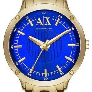 Emporio Armani Dress Ax5418 Kello Sininen / Kullansävytetty